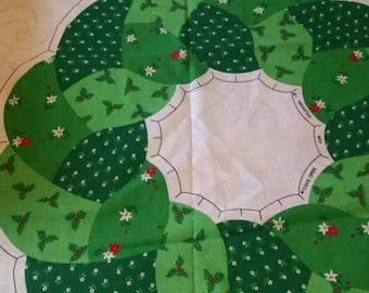 Wamsutta holiday wreath fabric panel