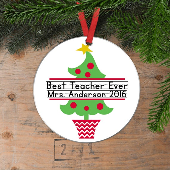 Personalized teacher christmas ornaments for Custom christmas tree ornaments