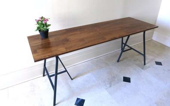 Long Desk Or Narrow Dining Table Long Table Handfinished