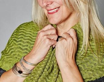 Fern Green Cowl, Ladies Fashion, Snood, Lace Cowl, Birthday Gift, Neck Warmer,  Cowl, Unique, 54