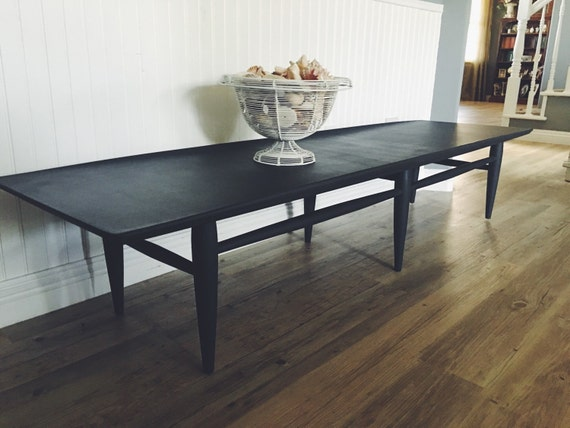 Items similar to mid century coffee table dark gray for Charcoal coffee table