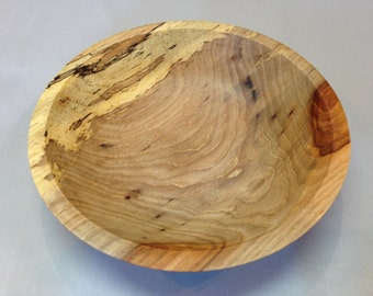 Spalted Pecan Wood Bowl Hand Turned Food Safe