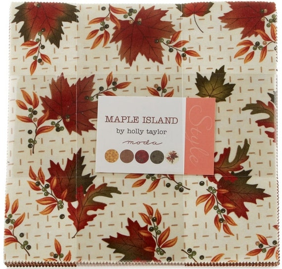 "Maple Island by Moda 42 10"" Layer Cake Squares 100% Designer Cotton by ..."
