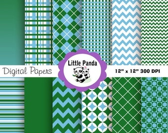 70% OFF SALE Golf Digital Paper Pack Scrapbook Papers -  12 jpg files 12 x 12 - Personal and Commercial Use - Instant Download - D62