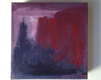 Abstract, original, painting - Doorway 430  - acrylic on canvas - 6 x 6 x 1 1/2""