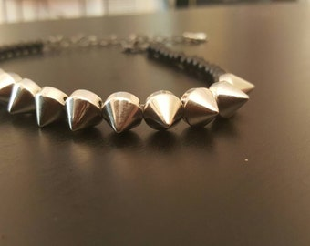 Noir Collection: Small Spiked Necklace