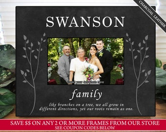 Personalized Family Picture Frame | Like Branches on a Tree Family Picture Frame | Family Picture Frame