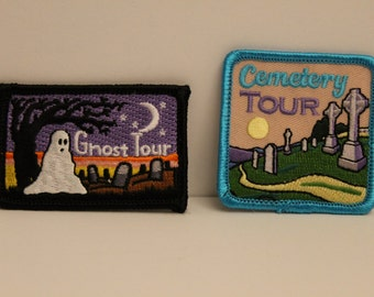 Ghost Patch Pack - 2 patches - ghost cemetery tour