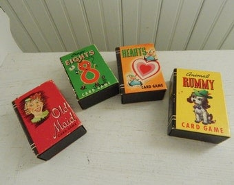 Whitman Publishing Children's Collection of Peter Pan Card Games - Set of 4 Games Includes Old Maid, Animal Rummy, Hearts, and Crazy Eights