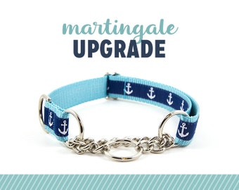 Chain Martingale Upgrade - Add to your order to upgrade to a metal chain martingale - Upgrade Only: Purchase with Collar