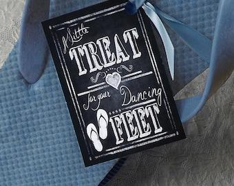 Wedding Flip Flop tags -  DIGITAL Downloadable DIY file