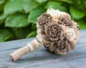 Burlap Wedding, Alternative Bouquet, Keepsake Bouquet, Rustic Bouquet, Fabric Bouquet, Wedding Bouquet, Burlap Bouquet, Bridal Bouquet