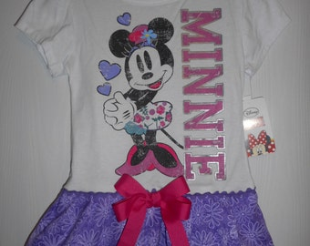Girls Minnie Mouse Dress Ruffles Handmade Dress Character Dress  Ruffle Dress