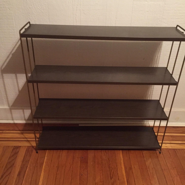 mid century modern metal shelf. Black Bedroom Furniture Sets. Home Design Ideas