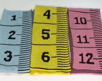 Knitted MEASURING TAPE Scarf