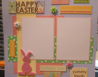 12x12 premade Easter scrapbook page