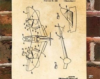 KillerBeeMoto: Duplicate of Original U.S. Patent Drawing For Vintage Tail Less Aircraft