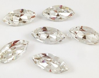 4228  CRYSTAL 10x5mm Swarovski Crystal XILION Navette Foiled Back, 8 pieces or 20 pieces