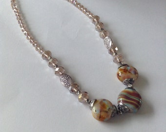 Hand blown glass necklace