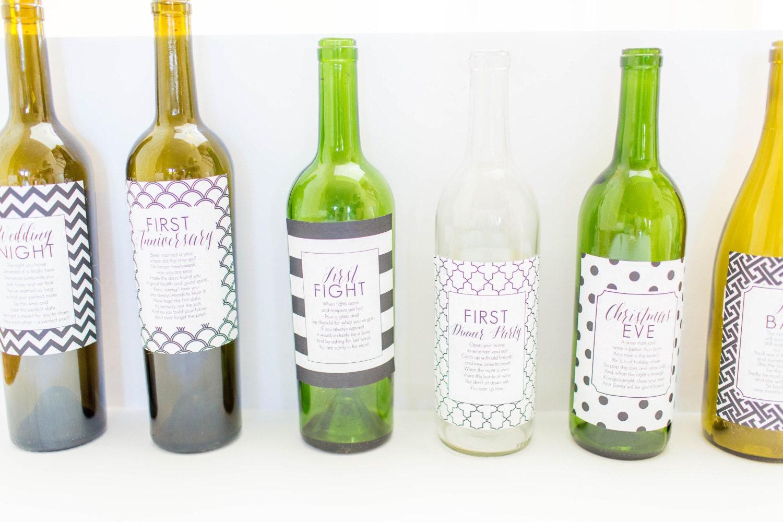 Marriage Milestone Wine Labels.Marriage Milestone Wine Labels ...