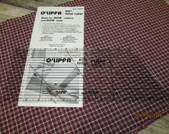 O'Lipfa Olipfa 60 Degree Mini Ruler 33360 New in Original package Quilting Sewing Tool