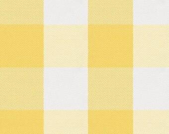 Saffron Buffalo Check Organic Fabric - By The Yard - Boy / Girl / Neutral
