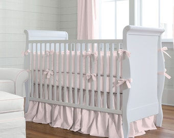Girl Baby Crib Bedding: Solid Pink 2-Piece Crib Bedding Set by Carousel Designs