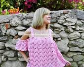 CROCHET PATTERN PDF - Off The Shoulder, Crochet Top, Crop Top, Plus Size Crochet Pattern, Waterfall Top, Festival Top, Crochet Clothing
