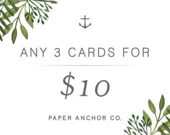 Any 3 Cards of Your Choice!