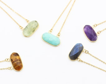 Sale Double Bails Necklaces -- With Electroplated Gold Edge Jewelry Supplies Wholesale Bridesmaid Necklaces CQA-020