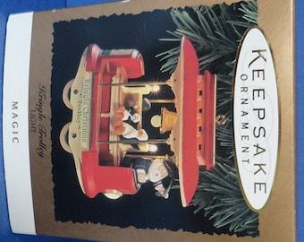 1994 Kringle Trolley Hallmark Retired Magic Ornament