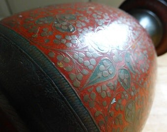 Bronze/Brass Enamelled Vase