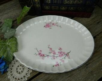 Vintage W. S. George Bolero Peach Blossom Oval Platter