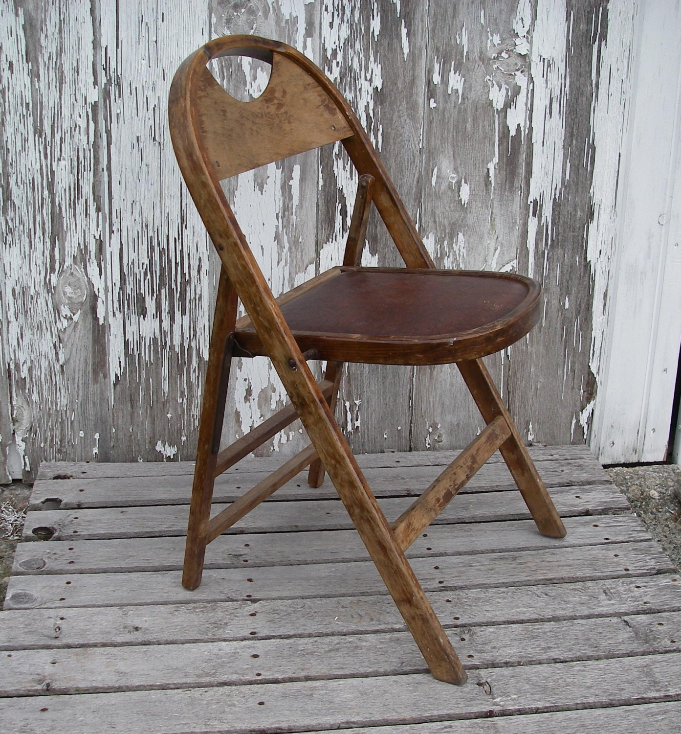 Vintage Bentwood Folding Chair By The Acme Chair Company