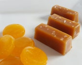 Gourmet Salted Butterscotch Caramels, 1/2 lb buttery soft homemade caramel, individually wrapped with decorative bag
