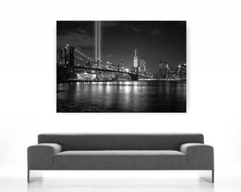 New York Brooklyn poster print on paper or canvas up to A0 size