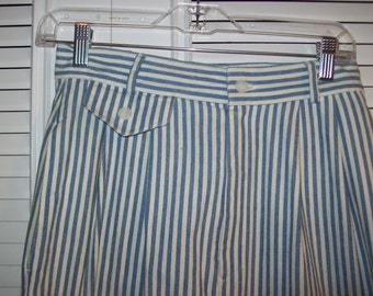 Vintage Brooks Brothers Striped Cotton Maxi Preppy Classic Skirt ! Size 8