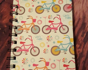Bicycle notebook 4x6 inches with 50 blank white pages