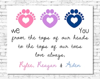 PRINTABLE Baby Birth Print - Personalized Newborn Print - Baby Announcement Wall Art