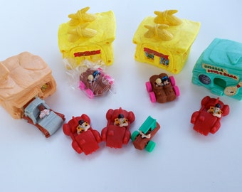 McDonald's Flintstones Happy Meal Cars & Houses Toys Lot 1993 Vintage