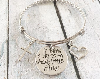 Teacher gift -Teacher's bracelet - Hand stamped bracelet for teacher - Personalized teacher gift - Gift for teacher's assistant - Gift idea
