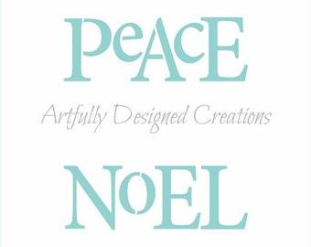 Peace Noel Joy Love Stencil