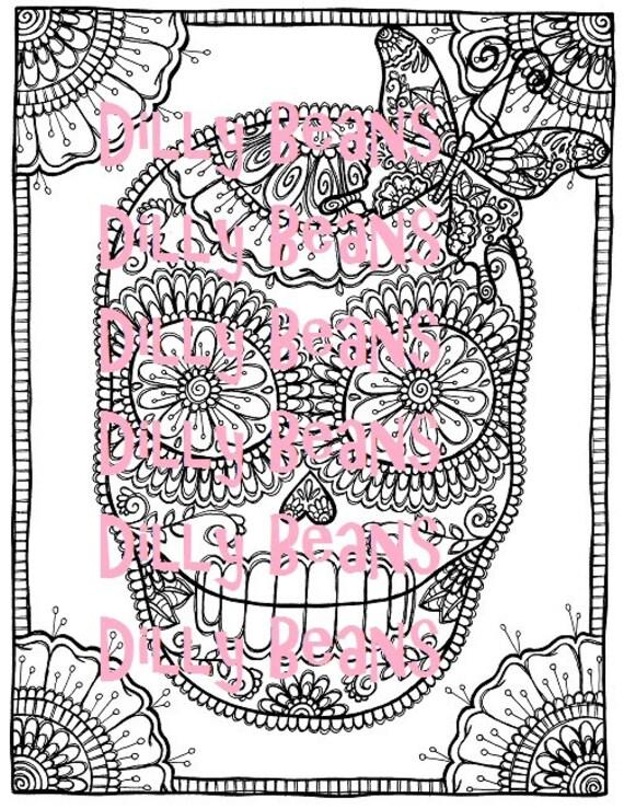 DOTD Sugar Skull Digi Stamp #612 Dilly Beans by Megan - My ...