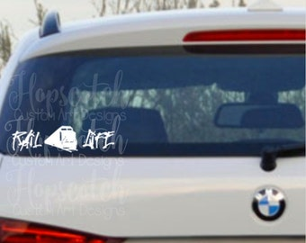 Railroad Life Car Decal Railroad Wife Vinyl Car Sticker Rail Life Monogram © Hopscotch Custom Art