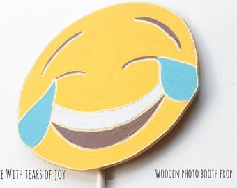 Face with tears of joy emoji props, Emoji Party Decorations, Emoji Photo Booth Props, Booth Display, Photo Booth Props Birthday, Emoji