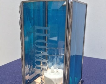 Stained Glass Rectangle Candle Holder