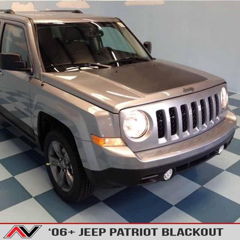 Jeep Patriot 2007-2016 Blackout Hood Decal Vinyl