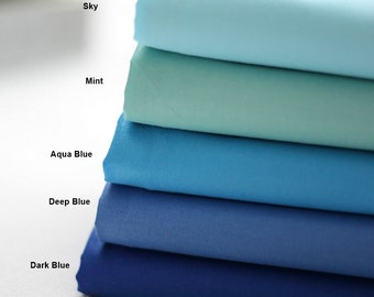 Twill Cotton Fabric in 5 Colors By The Yard