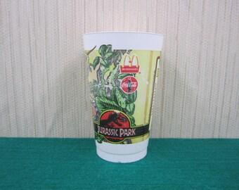 Vintage 1992 Original Jurassic Park Drinking Cup