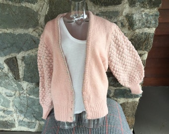 Beautiful Pink 80's sweater w/  metallic